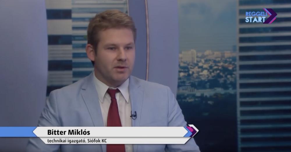 Bitter Miklós technikai igazgató volt  a Digi Sport Reggeli Startjának a vendége